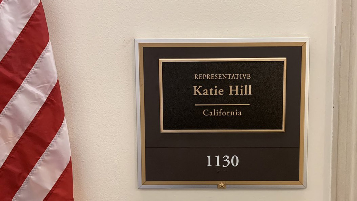 Katie Hill's office in Longworth Hall.
