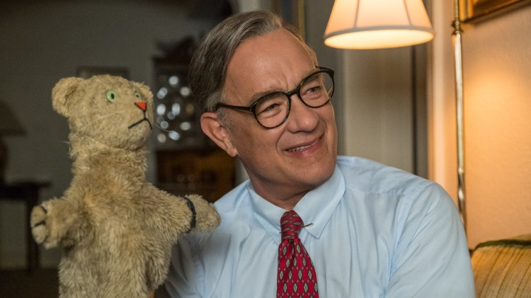 """Our critics review """"A Beautiful Day in the Neighborhood,"""" based on a 1998 Esquire profile of Mr. Rogers, and it's as much about the writer of the profile as it's about Mr."""