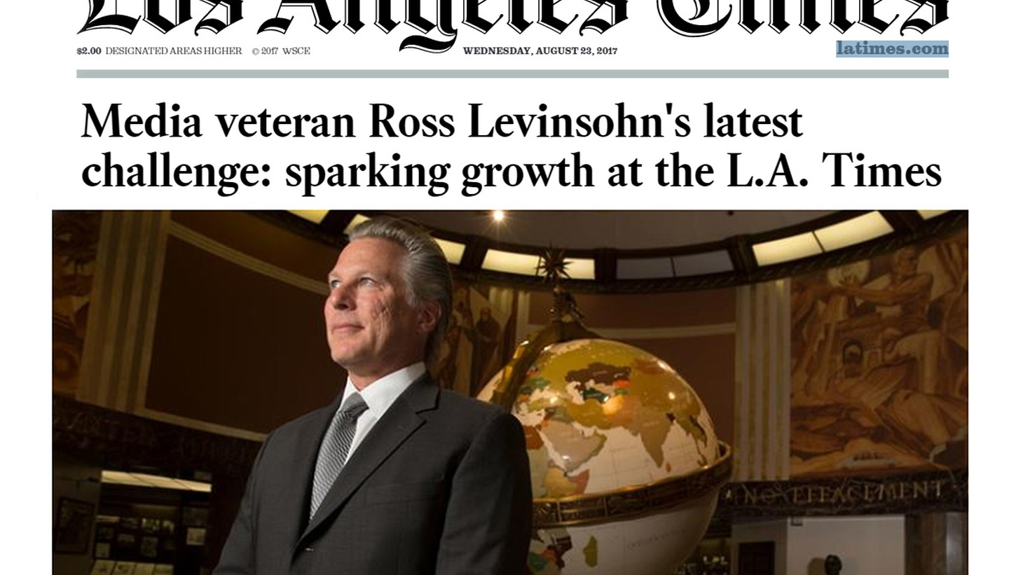 The Los Angeles Times' new publisher and CEO Ross Levinsohn, along with new interim executive editor Jim Kirk discuss their plans for a newspaper that has been battered by years of layoffs. How do they see the paper competing against the New York Times and the Washington Post? How will the LA Times cover Los Angeles?