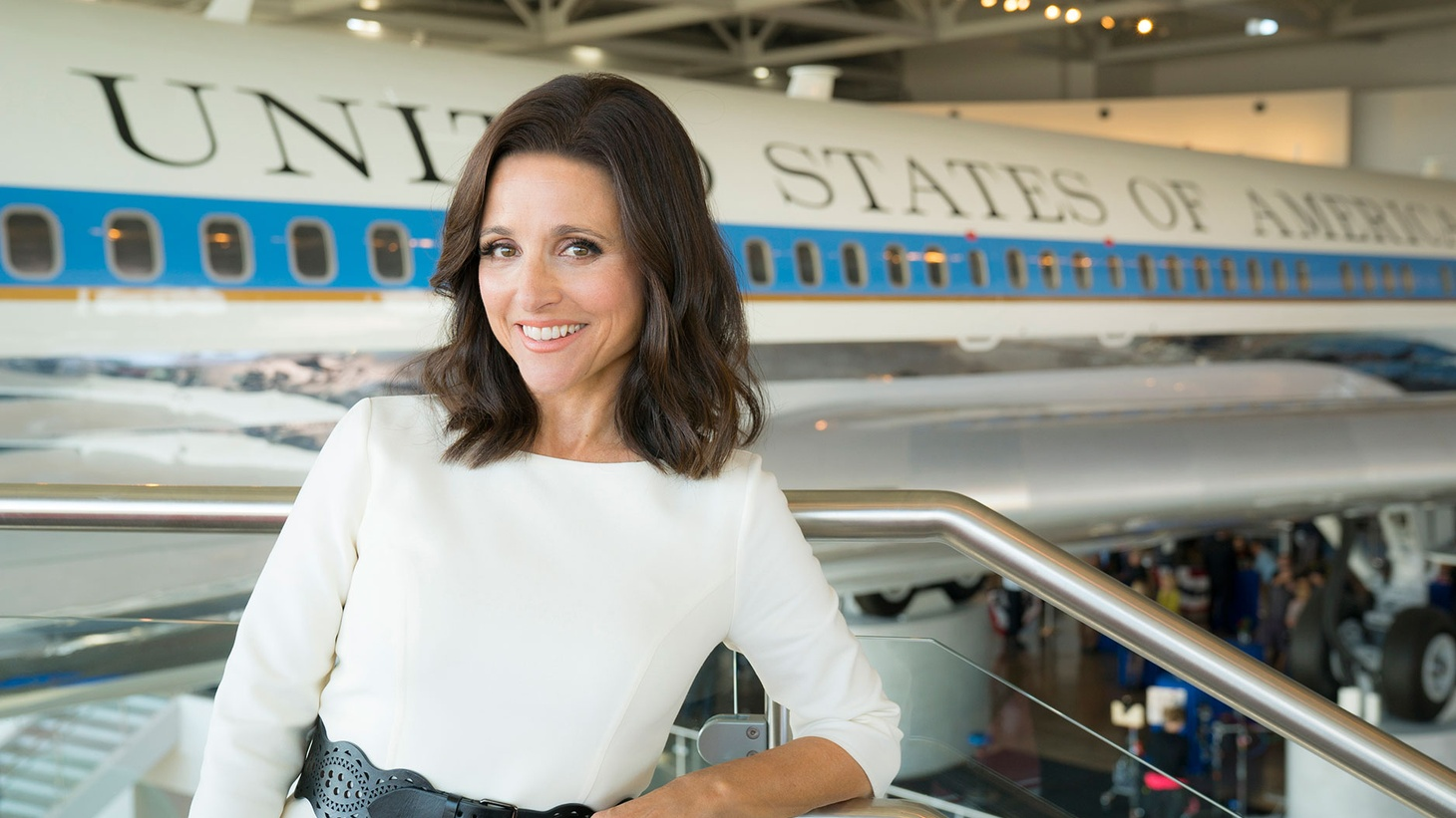 Julia Louis Dreyfus has played politician Selina Meyer for six seasons of HBO's Veep. She's won the Emmy for Outstanding Lead Actress in a comedy series every season the show has been on air. She's nominated again this year. 