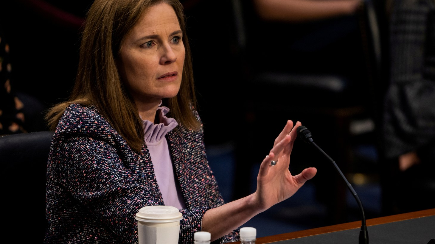 Judge Amy Coney Barrett during the third day of her Senate confirmation hearing to the Supreme Court on Capitol Hill in Washington, DC, U.S., October 14, 2020.