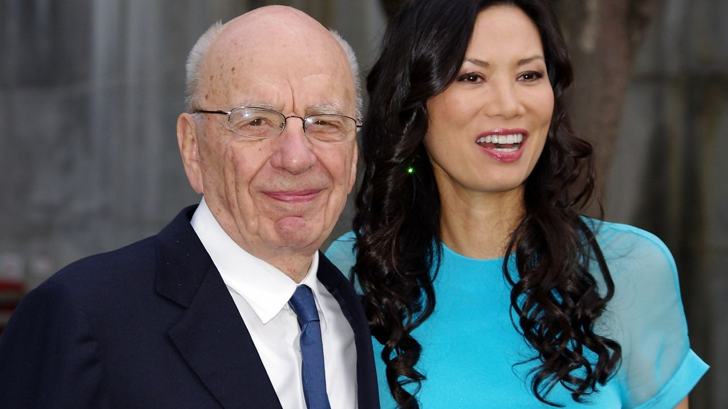 Rupert Murdoch and Wendi Murdoch at the Vanity Fair party celebrating the 10th anniversary of the Tribeca Film Festival, 2011.