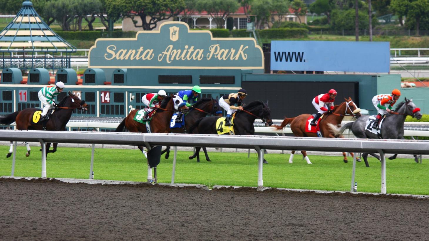 A race at Santa Anita Park.