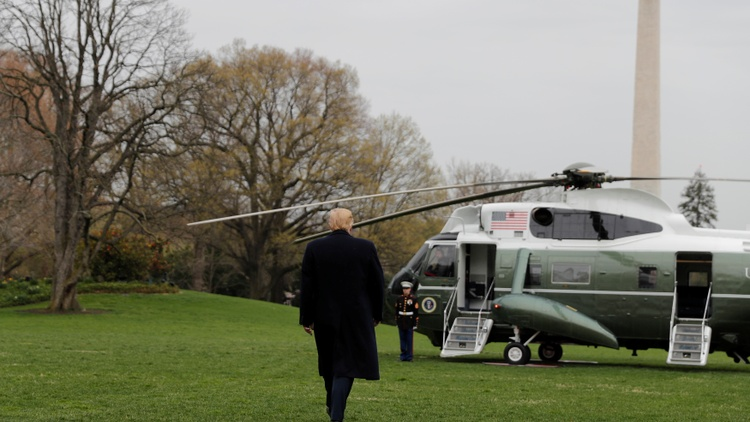 After a roundtable discussion with Border Patrol agents, President Trump will attend a fundraiser in Beverly Hills for his re-election campaign today.