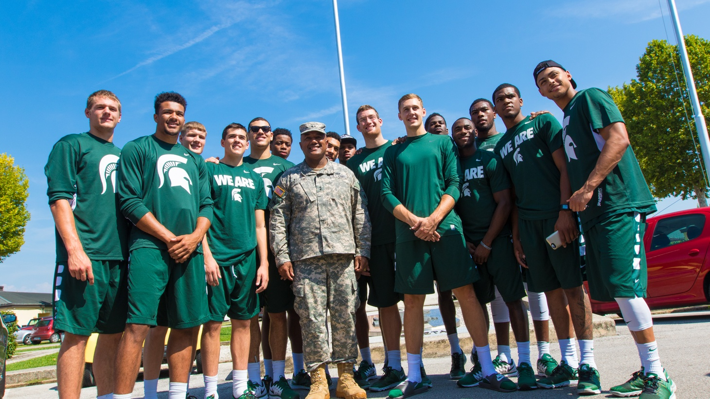 Michigan State Spartans visit U.S. Army Africa, 2015.