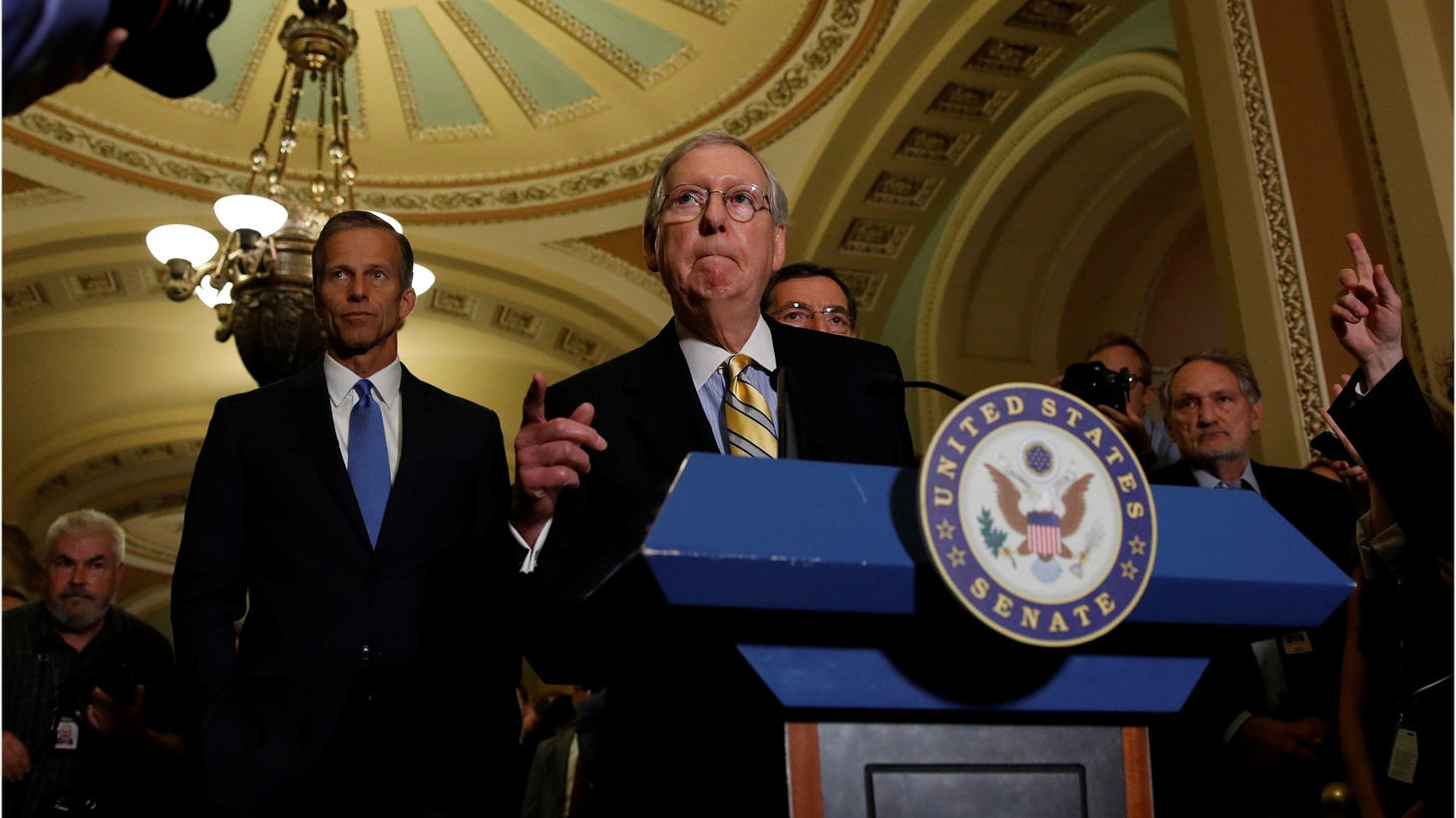 The nonpartisan Congressional Budget Office says the Senate GOP health care bill would leave 22 million more Americans without health insurance by the year 2026. The big question is just how many Republicans are willing to vote for the bill.