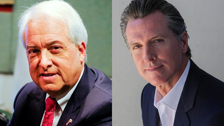 Democrat Gavin Newsom and Republican John Cox met today in what's likely to be their only debate before the November election.