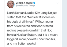 Whose nuclear button is bigger?