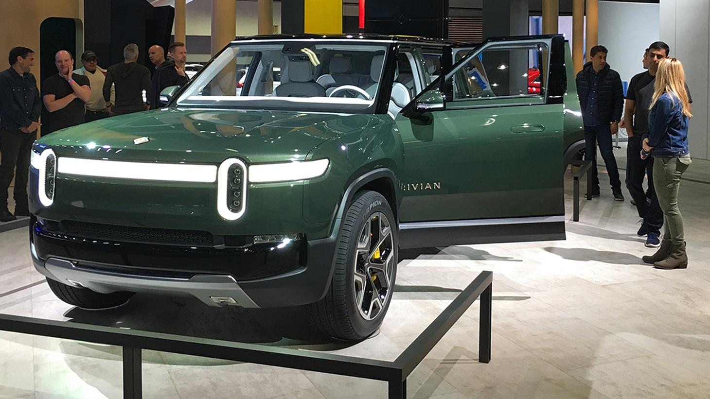 Rivian R1S Electric SUV at the LA Auto Show 2018.