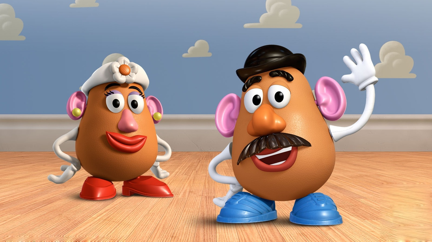 Mr. and Mrs. Potato Head from the Toy Story series.