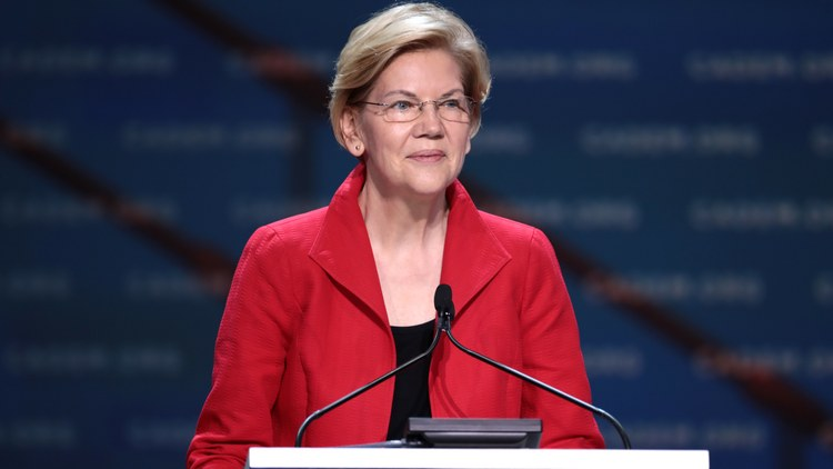 Massachusetts Senator Elizabeth Warren is in fourth place among New Hampshire Democratic primary voters, according to a new poll.