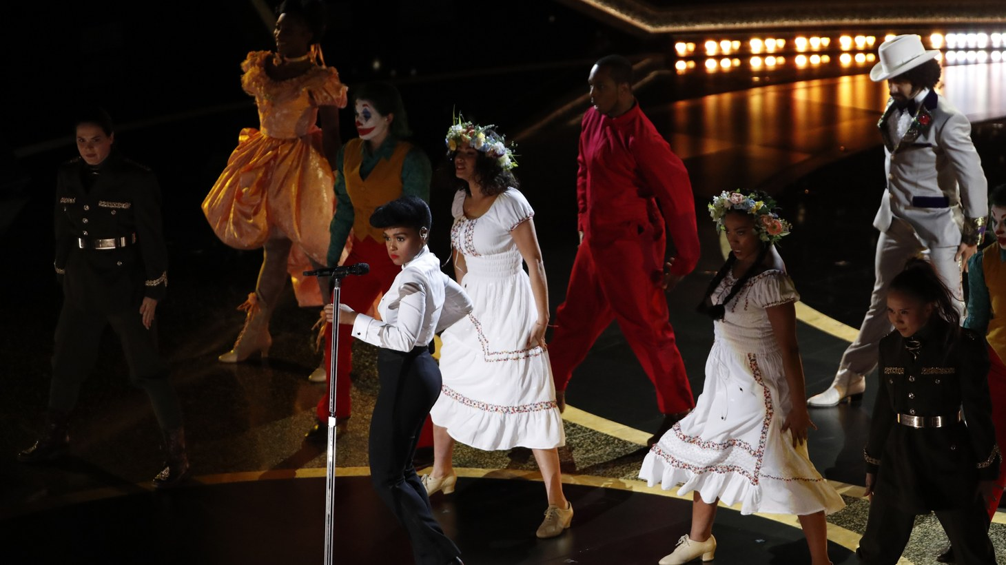 Janelle Monae performs during the 92nd Academy Awards in Los Angeles, California, U.S., February 9, 2020.