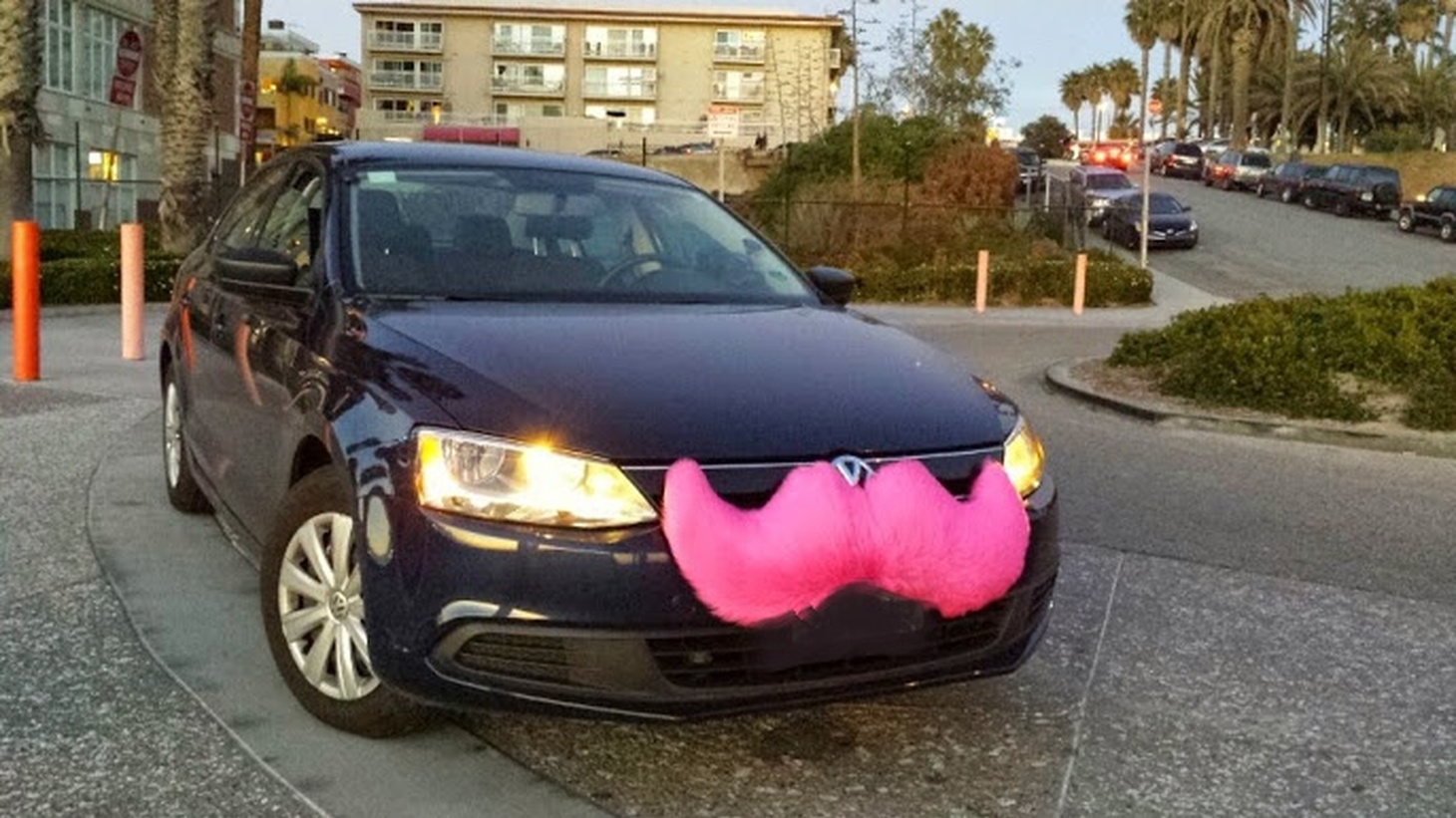 A Lyft vehicle in Santa Monica, CA.
