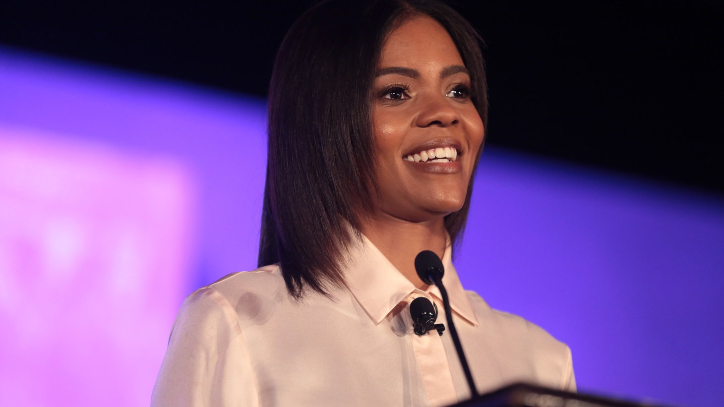 Candace Owens speaking with attendees at the 2018 Young Women's Leadership Summit, hosted by Turning Point USA at the Hyatt Regency DFW Hotel in Dallas, Texas.