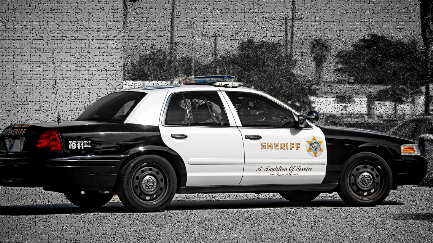 Los Angeles Sheriff's Department vehicle.