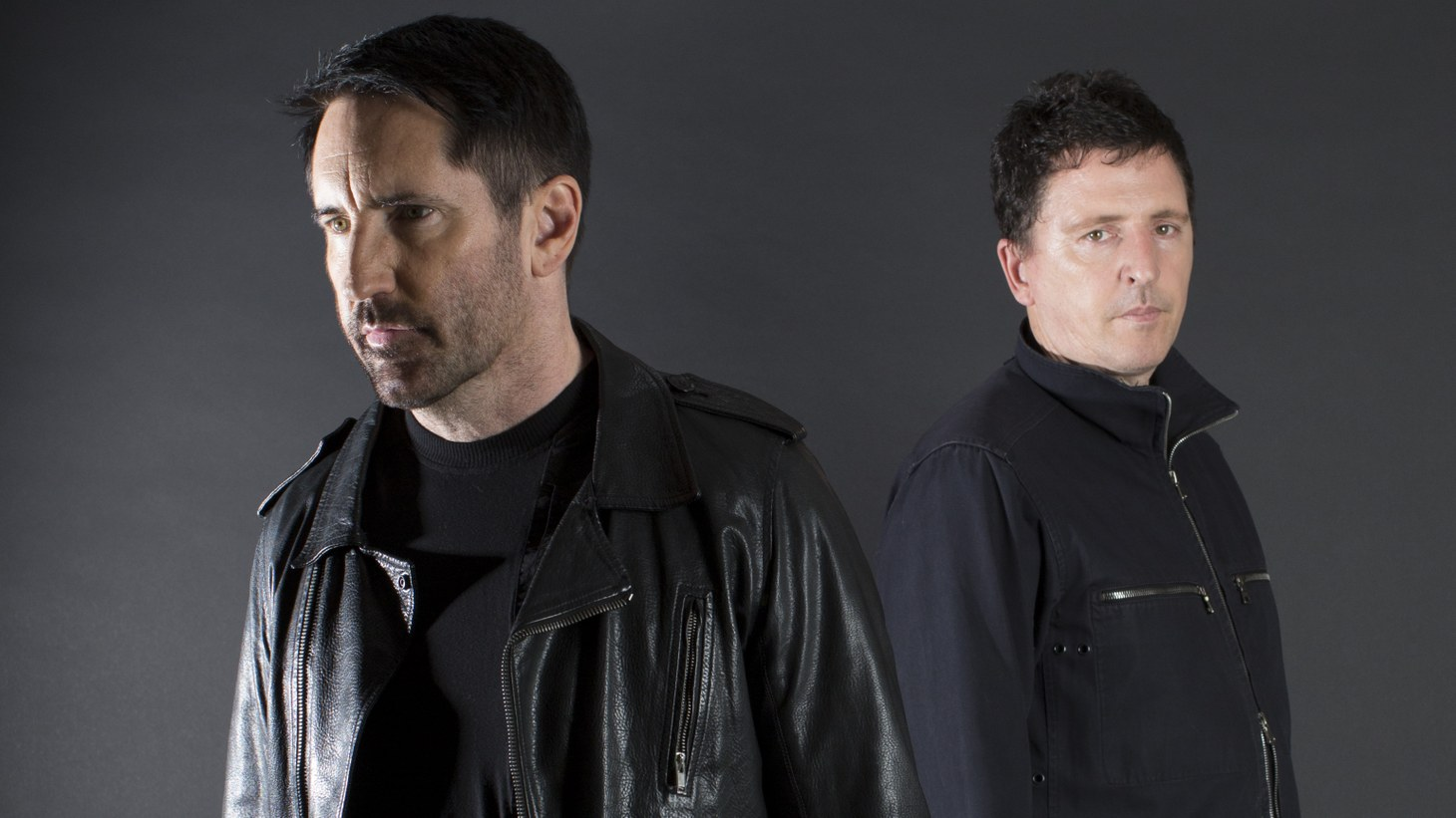 "Trent Reznor (left) and Atticus Ross (right) collaborated on the score for HBO's ""Watchmen."""