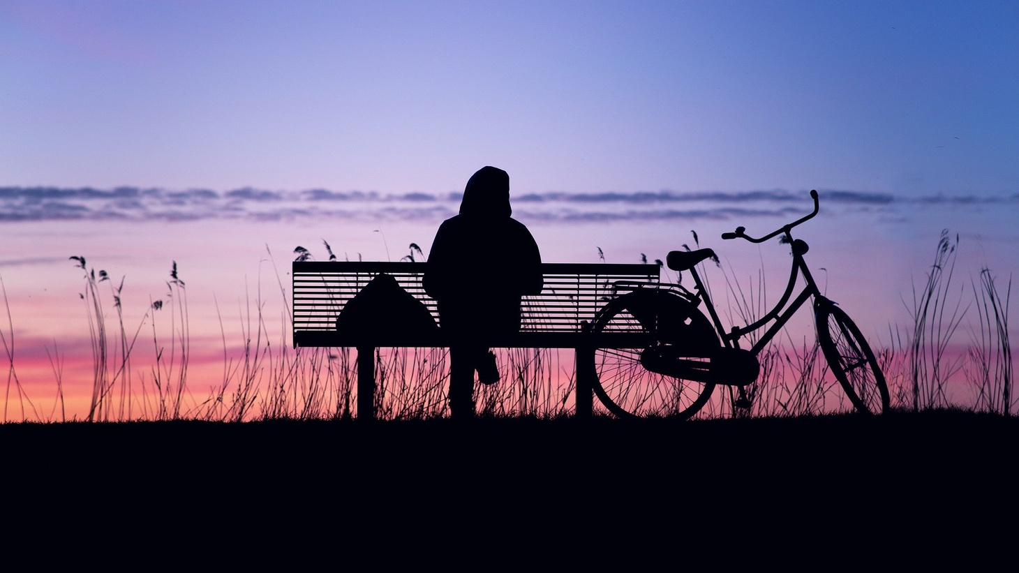 A person sits alone on a bench. A new project called Dear Loneliness collects letters, artwork, and social media posts about how people are experiencing loneliness around the world.