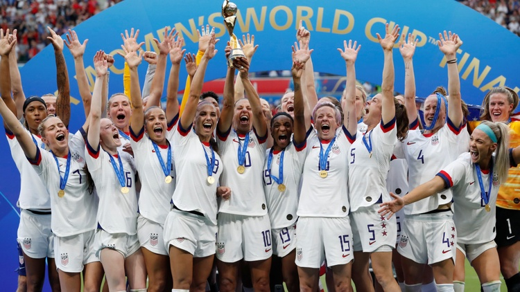 The U.S. women's soccer team celebrated their World Cup victory with a parade in New York. Thousands of fans lined the streets to congratulate the two-time world champions.