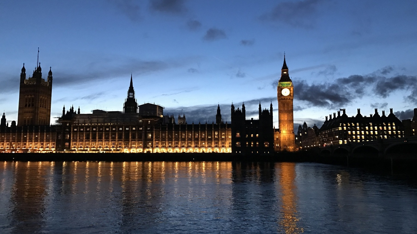 The Palace of Westminster.