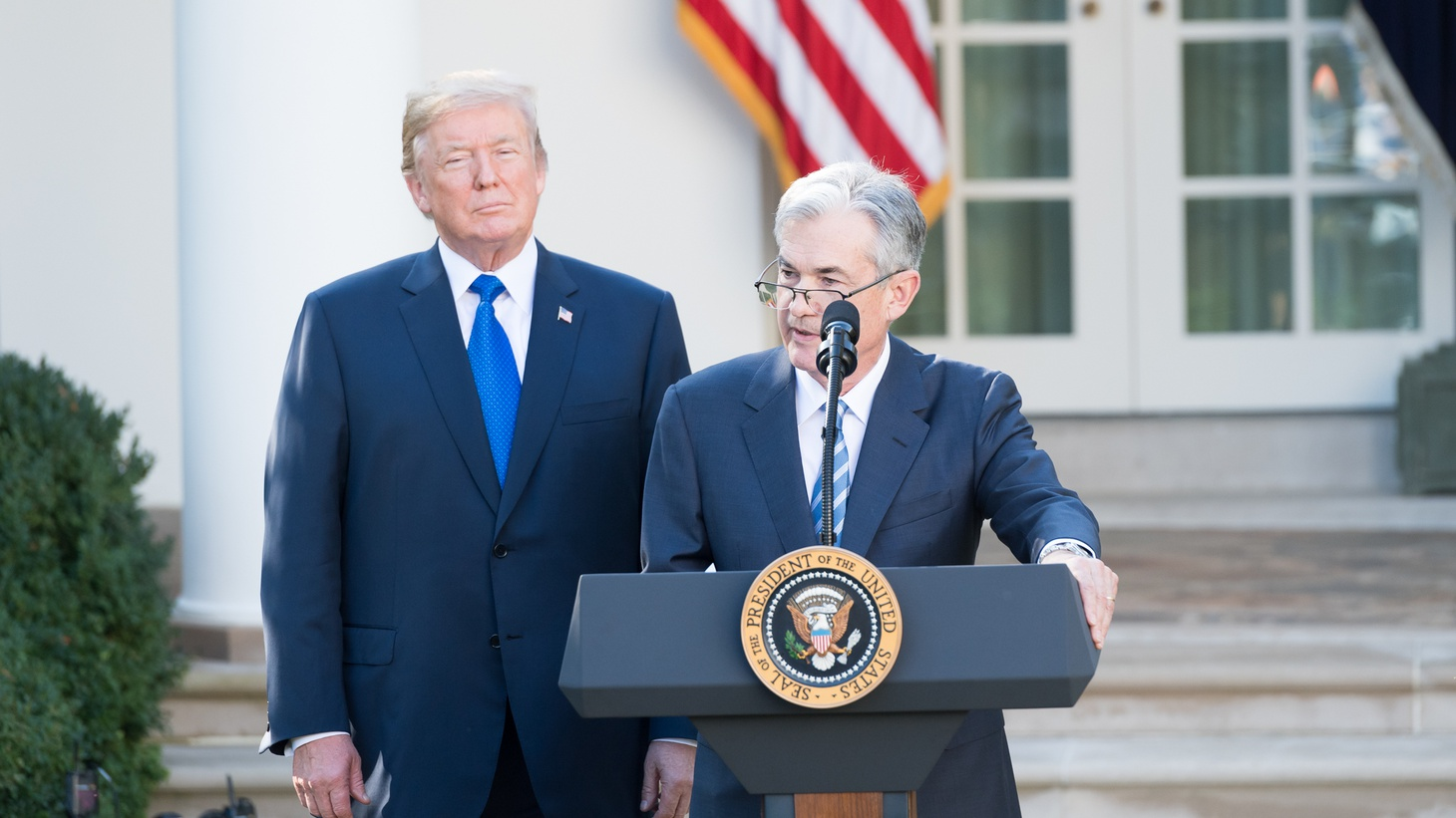 President Donald J. Trump announced the nomination of Jerome Powell to be Chairman of the Board of Governors of the Federal Reserve System, November 2, 2017.