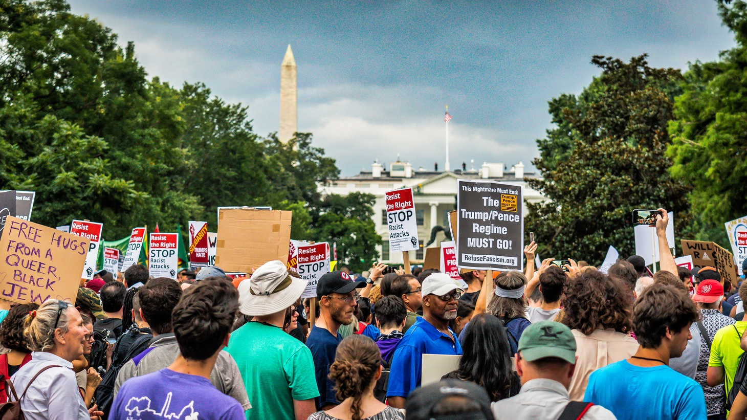 """On August 12, 2018, thousands of counter-protesters took to the parks and streets of Washington, D.C. in response to a planned """"Unite the Right 2"""" rally of white nationalists on the one year anniversary of deadly violence in Charlottesville, VA."""