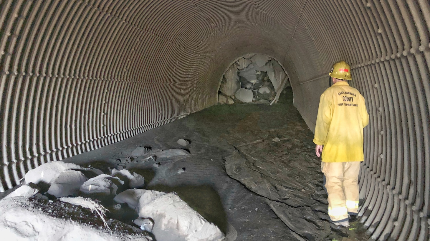 Edison alleges Santa Barbara County failed to improve or maintain its debris basins, causing boulders and debris to travel into urban areas and leading to death and destruction.