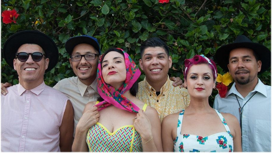 Three of the members of Las Cafeteras have roots in Ventura County. Jose Cano (far right) is the second born child of immigrant parents from Jalisco, Mex. and grew up in Oxnard.