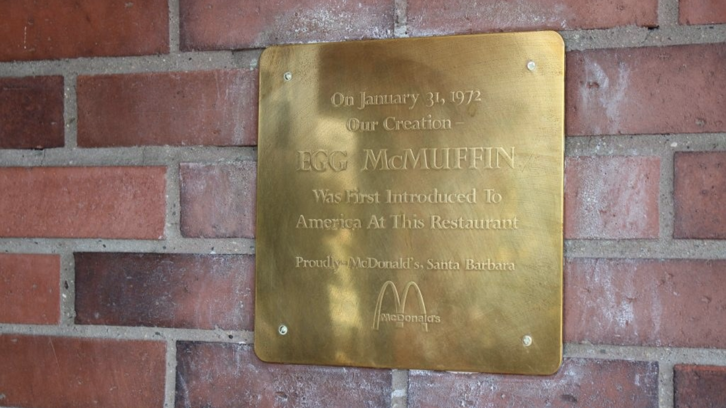 You can find this plaque honoring Herb Peterson's invention at the McDonald's at 3940 State Street.