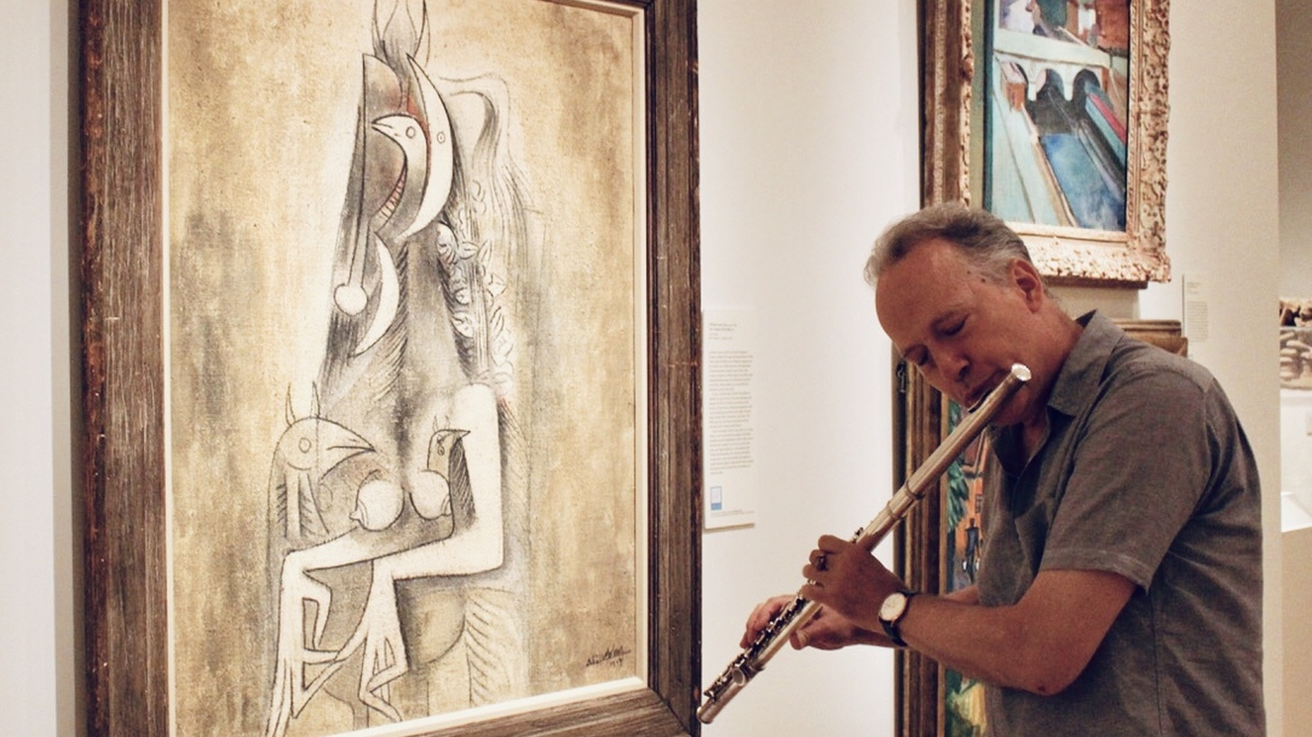 Ted Nash plays a jazz flute improvisation based on his artistic interpretation of Wilfredo Lam's The Casting of the Spell at the Santa Barbara Museum of Art.