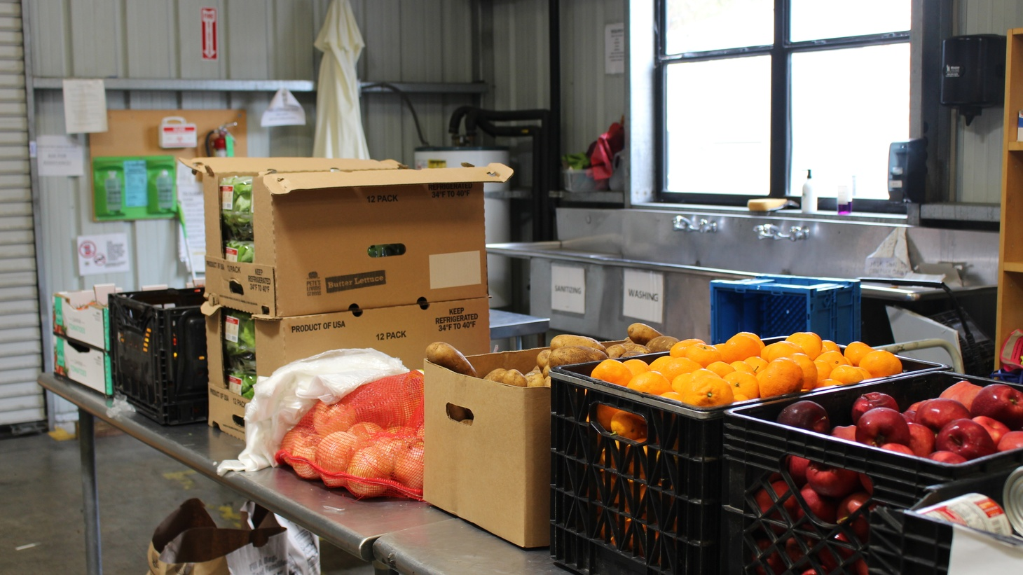 The Santa Barbara Foodbank is distributing free food twice a week at three locations in the county.