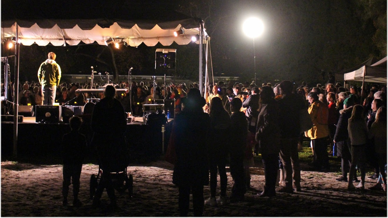 Organizers in Montecito held a candlelight walk of remembrance on the one year anniversary of the mudslides