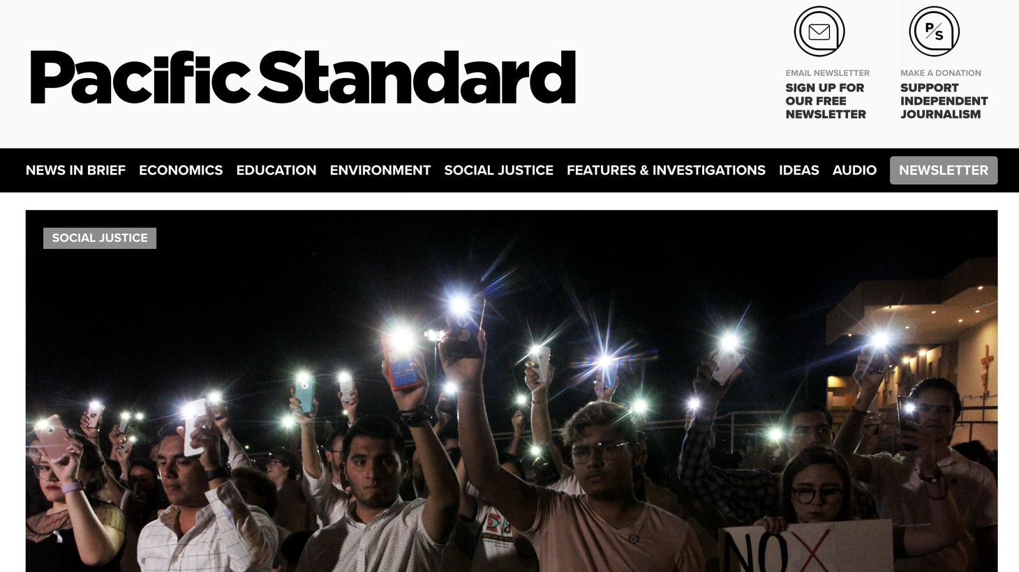 Pacific Standard magazine's headquarters are in Santa Barbara, but its journalists are stationed around the world.