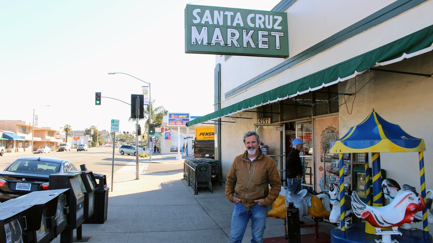 Tom Modugno in front of his business in Old Town Goleta
