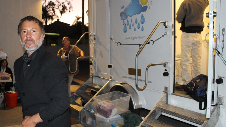 Photo by Kathryn Barnes/KCRW  This is shaping up to be tough winter for Santa Barbara's homeless. One local shelter cut 50 of its 66 beds, and another has decided to no longer offer…