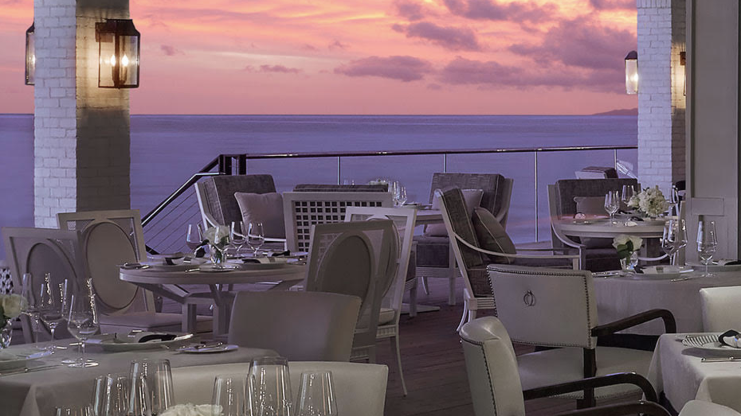 The Rosewood Miramar hotel offers seaside dining with Caruso's