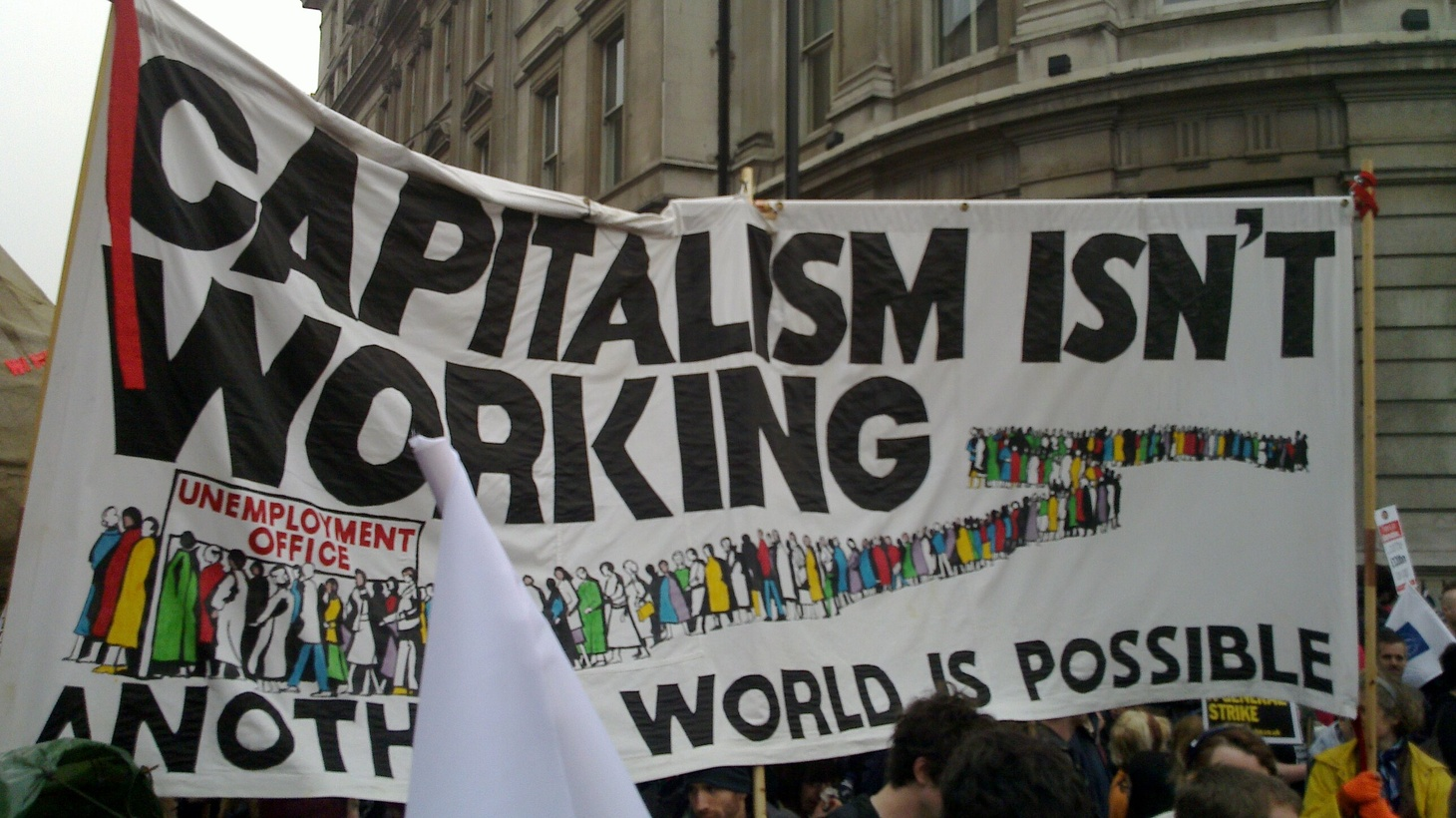 March for the Alternative, London, UK.