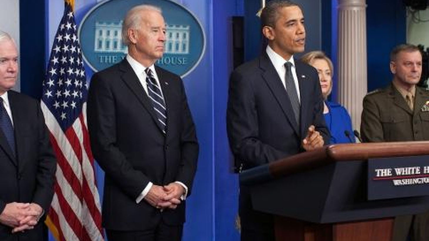 """With Secretaries Clinton and Gates at his side, President Obama today said that gains in Afghanistan are """"fragile"""" but real. While he still hopes to begin a so-called """"conditions-based"""" withdrawal in July of next year, US combat forces will remain until December of 2014. Also, more trouble for BP -- in the US and in Azerbaijian."""