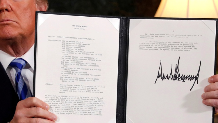 """President Trump made good on a campaign promise. The U.S. is out of the """"horrible"""" """"one-sided"""" Iran nuclear deal. Can it stop Iran from restoring its nuclear program?"""