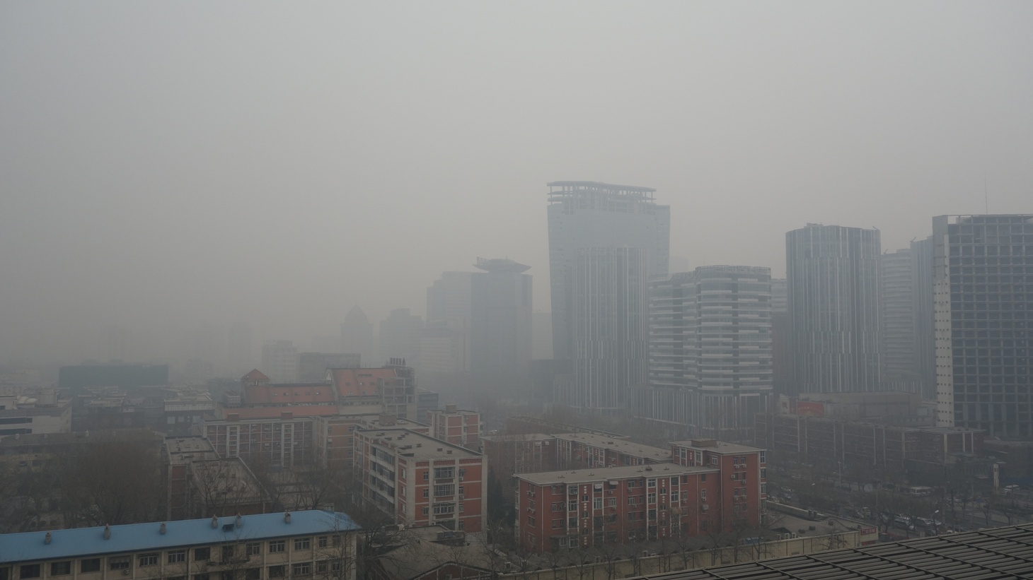 Air pollution in Sanlitun, Beijing, China
