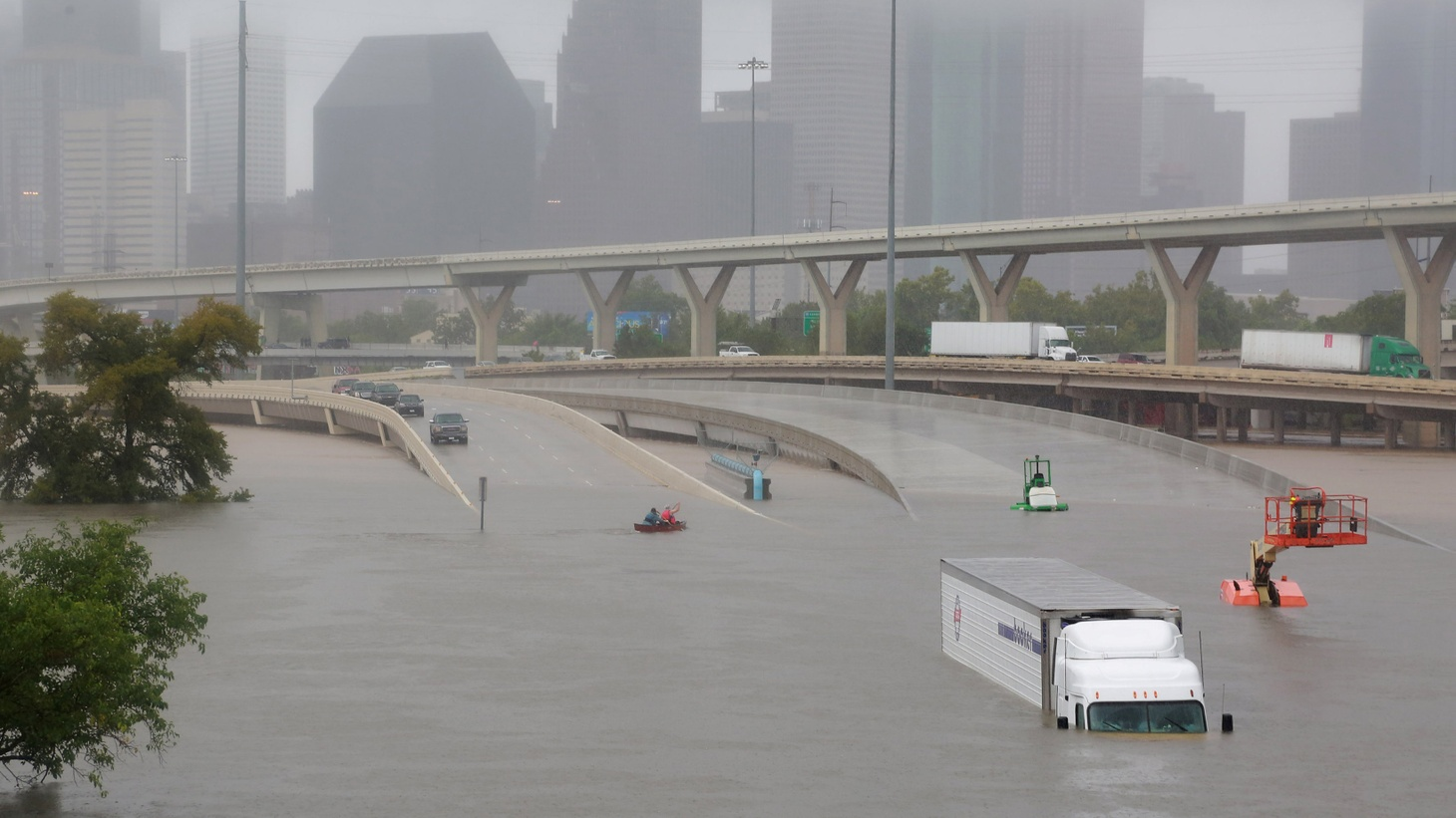 """One weather expert says what we're seeing in Houston, """"could go down as the worst flood disaster in US history."""" We hear about Houston — how it became so vulnerable to massive flooding and how President Trump is handling federal assistance."""