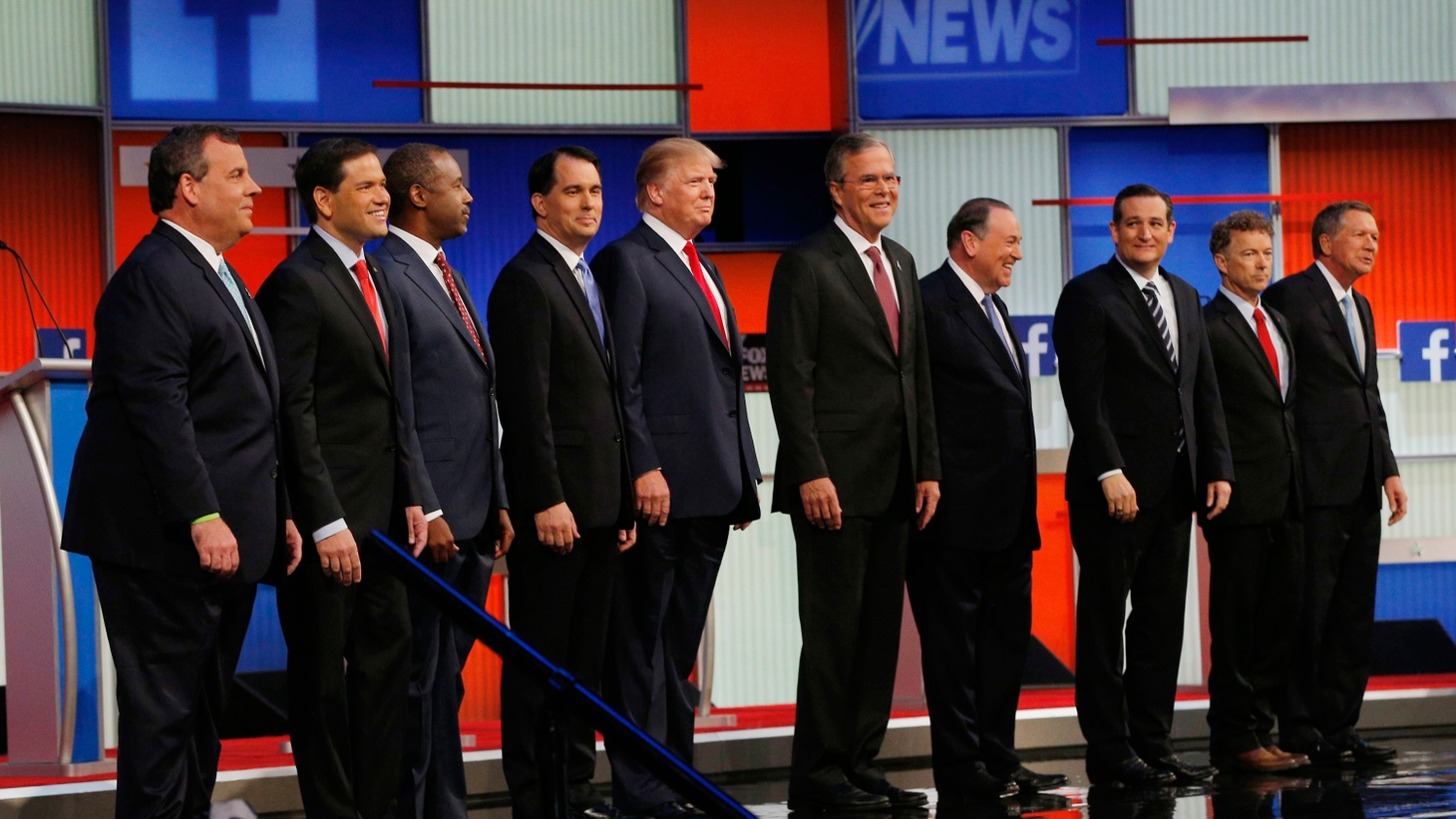 Nine other candidates were the supporting cast last night as Donald Trump dominated the Republican presidential candidates first confrontation on prime-time TV. We hear they tried to challenge him for the lead.