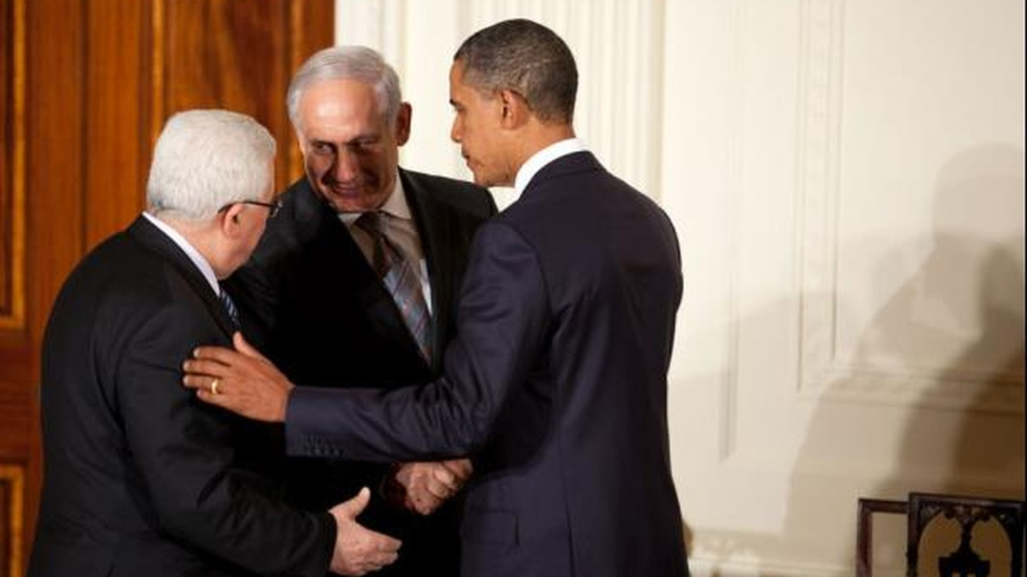Palestinian President Mahmoud Abbas and Israeli Prime Minister Benjamin Netanyahu are together again for the first time in almost two years. How long will it last? What's the role of Iran? How great is the risk for Obama? Also, another off-shore explosion in the Gulf of Mexico, and a British view of Tony Blair's new memoir.