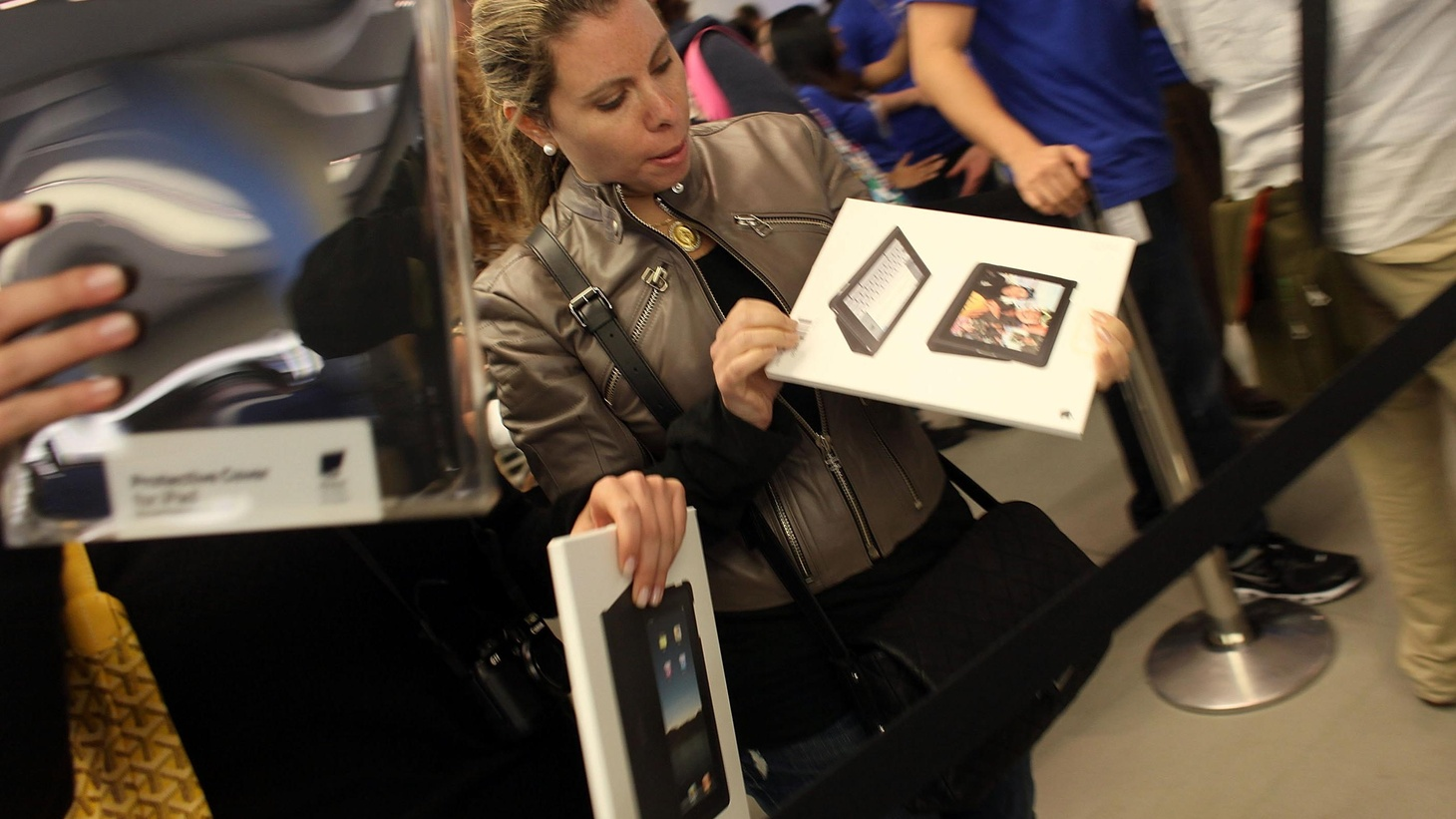 Apple has a knack for creating things we didn't even know we needed -- or wanted. Some three hundred thousand Apple lovers bought iPads this weekend. Guest host Sara Terry learns what Apple's latest device delivers and where it falls short. Also, the Taliban attacks the US Consulate in Peshawar, Pakistan, and Michael Steel Rocks the boat at the Republican National Committee.