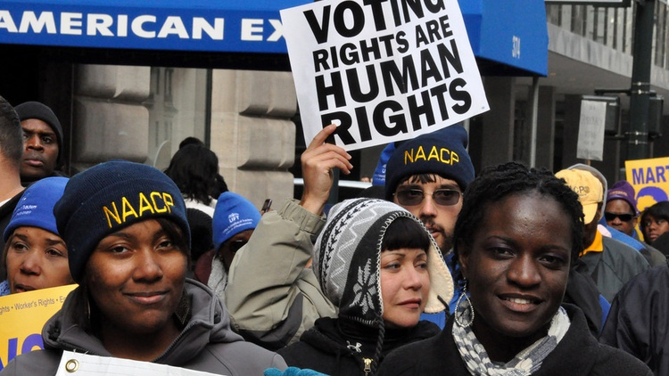"""In the past 10 days, federal courts have issued major decisions against Republican-backed restrictions designed to curb so-called """"voter fraud"""" in Texas, Wisconsin, Michigan, Kansas,…"""