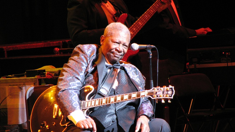 B.B. King  picked cotton on the plantation where he was born, but rose to become a world-travelling ambassador for the blues. He died yesterday in Las Vegas at the age of 89.