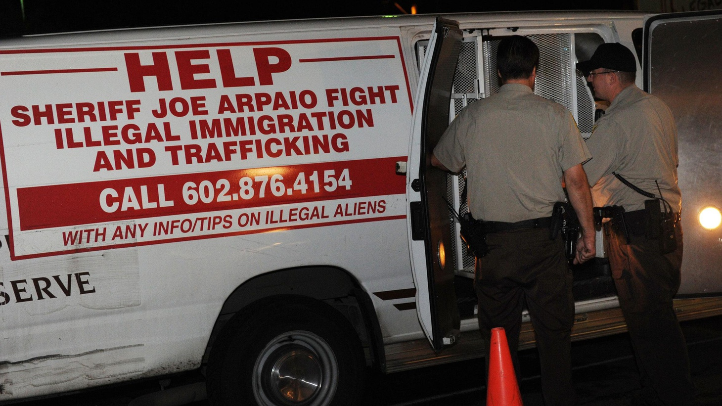 A federal court ruling means the toughest provisions of Arizona's new immigration law won't go into effect today. We hear about the law and the impact on Arizona's economy as demonstrators are being arrested in Phoenix. Also, has damage from the Gulf oil spill been exaggerated? On Reporter's Notebook, WikiLeaks, transparency and anonymity.