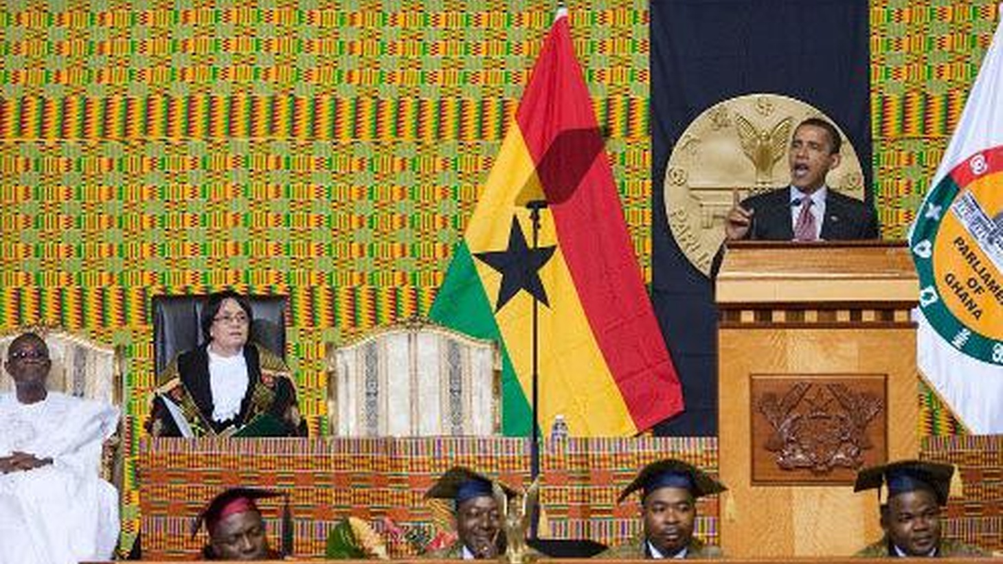 Ghana is all dressed up for President Obama's first official visit to sub-Saharan Africa. Is the rest of the continent ready for tough love? Does international aid lead to dependence?  Can it be structured to help countries help themselves? Also, GM emerges from bankruptcy, and rhesus monkeys and the fountain of youth.