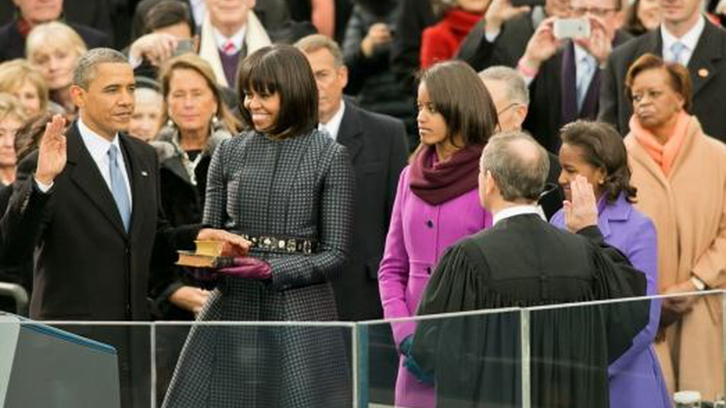 Barack Hussein Obama was inaugurated today for his second term, with an inaugural speech that looked to the future...