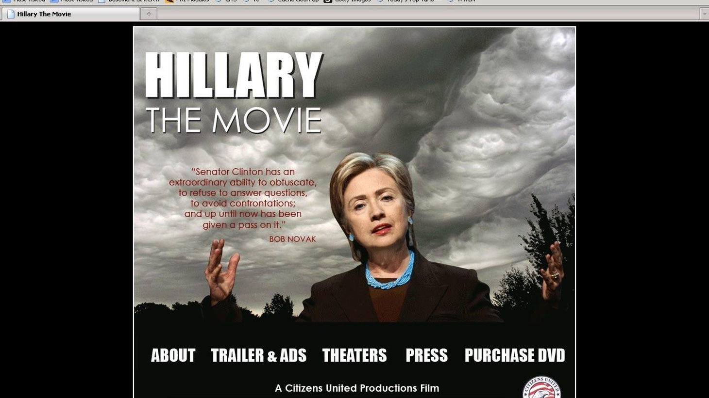 An attack film called Hillary: The Movie is at the heart of a case that could change the way political campaigns have been financed for more than 100 years. We hear about today's extraordinary session of the US Supreme Court, the first for the new Justice Sonia Sotomayor. Also, the capture of a New York Times Reporter illustrates the escalating danger in Afghanistan. On Reporter's Notebook, can the US afford human exploration in space?