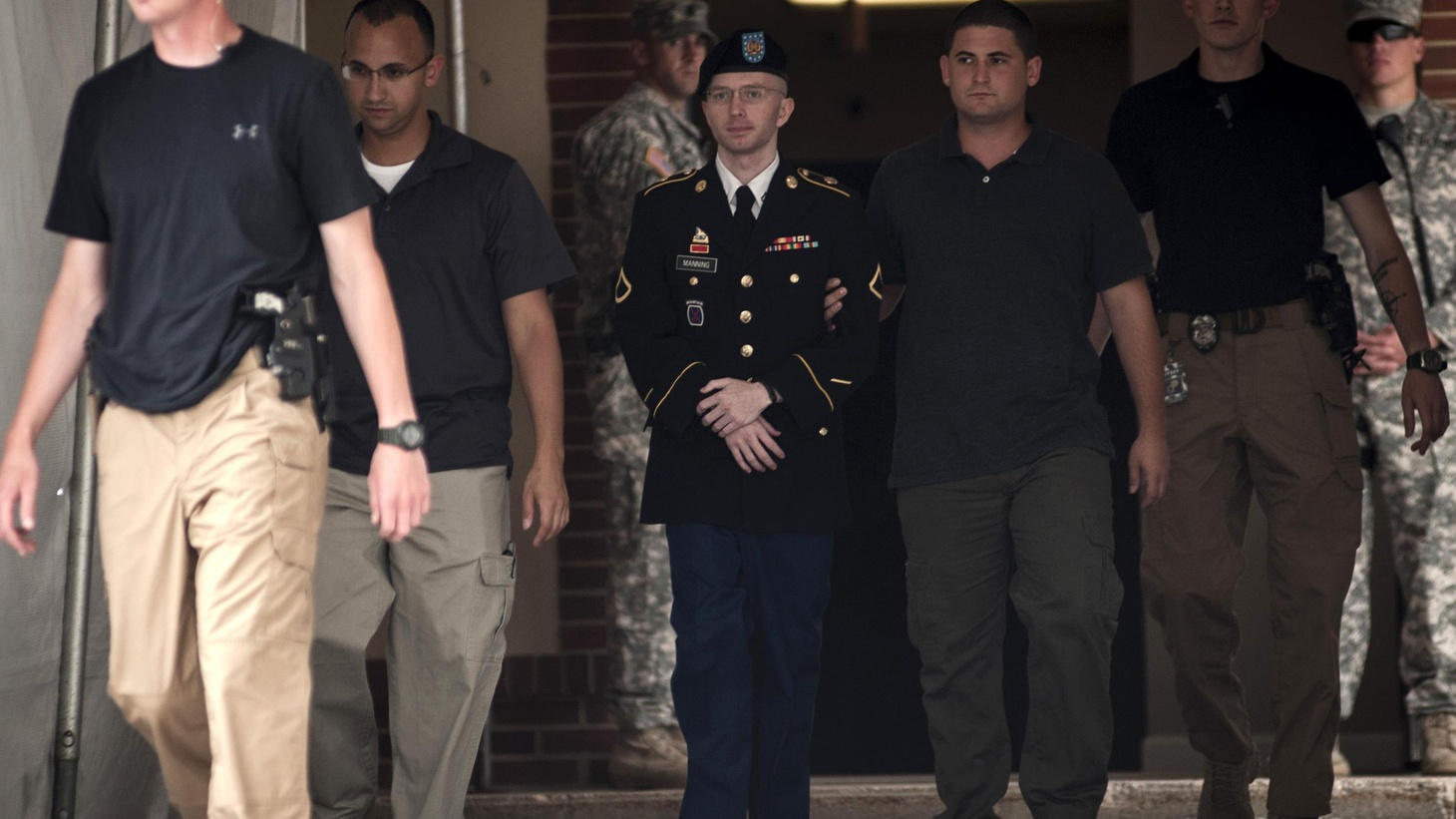 "Bradley Manning was charged with ""aiding the enemy."" Today,